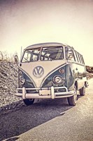 Surfers' Vintage VW Bus Fine Art Print