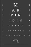 Eye Chart Martini Fine Art Print