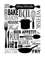 Culinary Love 1 (black & white) Fine Art Print