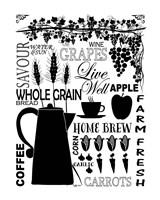 Culinary Love 2 (black & white) Fine Art Print