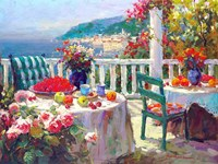 Terrace Brunch Fine Art Print