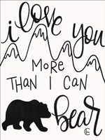 More Than I can Bear Fine Art Print