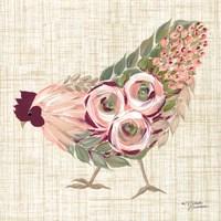 Botanical Rooster II Fine Art Print