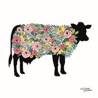 Floral Cow Fine Art Print