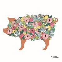 Floral Pig Fine Art Print