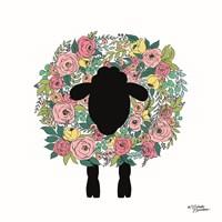 Floral Sheep Fine Art Print
