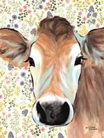Bluebell Cow Fine Art Print