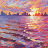 Skyline Sunset Fine Art Print