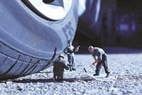 Army Car Tire Fine Art Print