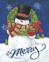 Merry Snowman Fine Art Print