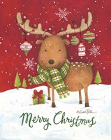 Merry Christmas Reindeer Fine Art Print