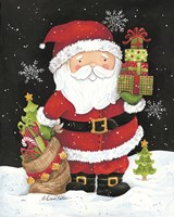 Santa Claus with Presents Fine Art Print
