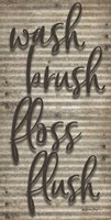 Wash Brush Floss Flush Fine Art Print