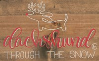 Dachshund in the Snow Fine Art Print
