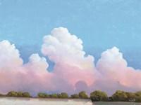 River & Sky Meet The Clouds Fine Art Print