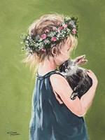 Girl with Bunny Fine Art Print