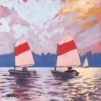 Two Sailboats Fine Art Print