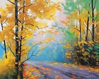 Misty Autumn Day Fine Art Print