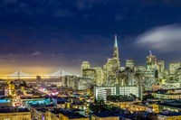 San Francisco Holiday Lights Fine Art Print