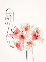Flamingo Flowers Fine Art Print