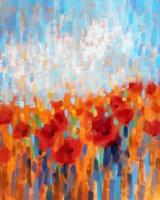 Poppy Walk Fine Art Print