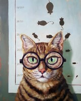 Feline Eye Exam Fine Art Print