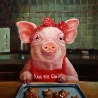 Gingerbread Pigs Fine Art Print
