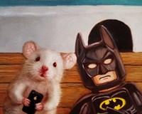 Selfie with Batman Fine Art Print