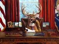 The Buck Stops Here Fine Art Print