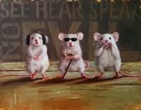 Three Wise Mice Fine Art Print