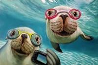 Underwater Selfie Fine Art Print