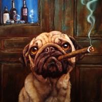 Uptown Pug Fine Art Print