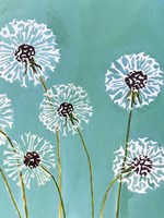 Dandelions on Aqua Fine Art Print