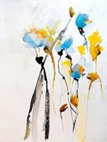 Blue Flowers II Fine Art Print
