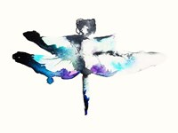 Turquoise & Violet Dragonfly Fine Art Print