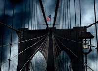 Stars and Stripes on Brooklyn Bridge Fine Art Print