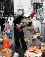 Garden Gnomes - VJ Day Fine Art Print