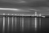 Mackinac Bridge BW Fine Art Print