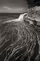 Pictured Rocks Michigan I BW Fine Art Print