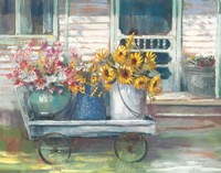 Garden Wagon Bright Fine Art Print