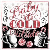 Merry Little Christmas BWR Fine Art Print