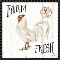 Free Range Fresh III Checker Border Fine Art Print