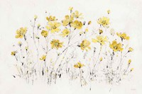 Wildflowers I Bright Yellow Fine Art Print