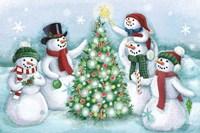 Classic Snowmen IV Dark Fine Art Print