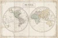 Old World Eastern Western Linen Fine Art Print