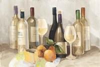 Wine and Fruit II v2 Light Fine Art Print