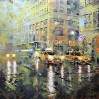 Manhattan Orange & Green Fine Art Print