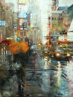 Manhattan Orange Umbrella Fine Art Print
