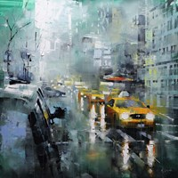 New York Rain Fine Art Print
