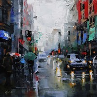 St. Catherine Street Rain Fine Art Print